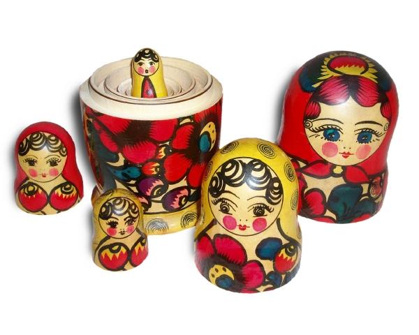 ロシア『普通のマトリョーシカ』画像