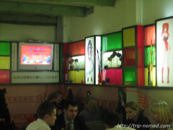 『ロシアの寿司』「アニメ・マンガ」寿司屋店内画像