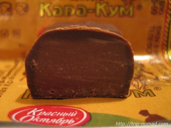 カラ・クム中身断面図『ロシアンチョコ』画像