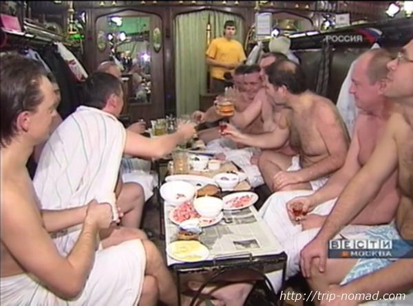 ロシア・モスクワ「サンドゥヌィ」休憩室宴会画像