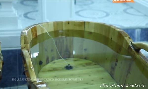 ロシア・モスクワ「サンドゥヌィ」バーニャフロア水風呂画像
