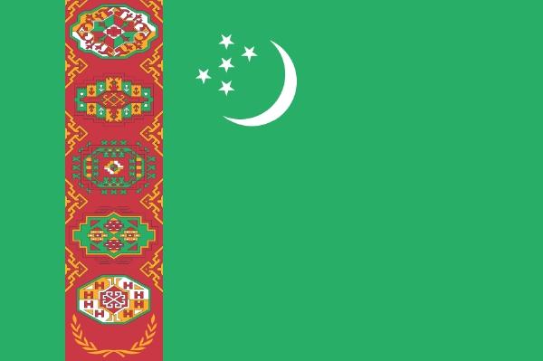 トルクメニスタン国旗画像