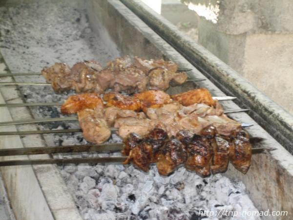 『トルクメニスタン』羊肉「シャシリク」画像