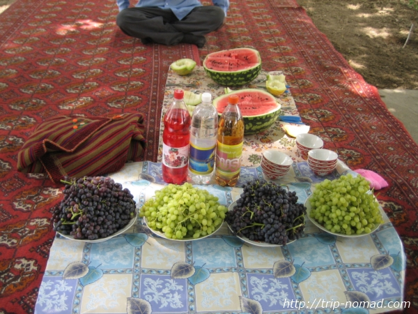 『トルクメニスタン』ブドウ画像