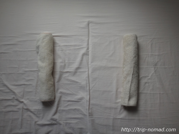『枕なし睡眠法』「タオル枕」画像