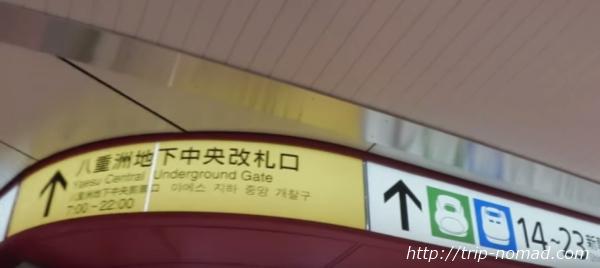 『東京駅新幹線乗り場まで』画像