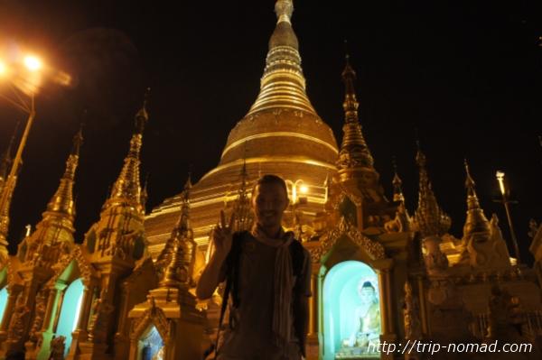 『ミャンマーで金ピカの寺院をお参り』画像