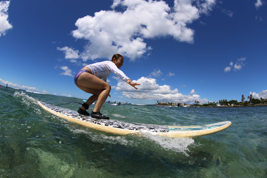 『アンプサーフ ハワイ(AMP SURF HAWAII)』レッスンサーフィン画像