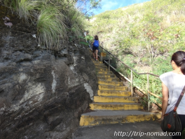 『ダイヤモンドヘッド』登山道画像