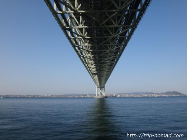 『明石海峡大橋』真下からの画像