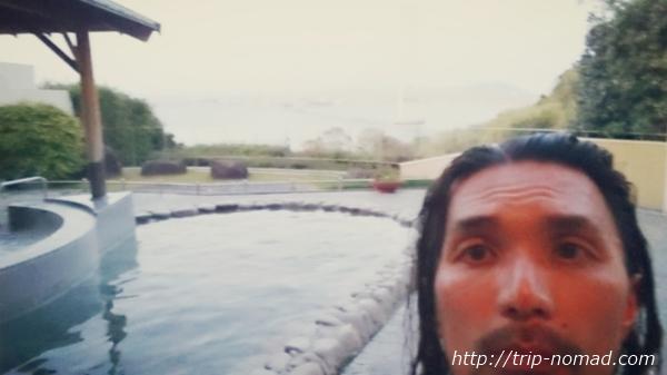 岩屋温泉『美湯松帆の郷』の露天風呂で極楽気分画像