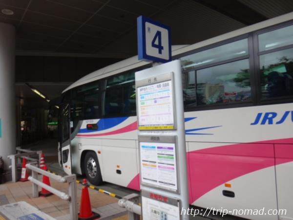 『大阪伊丹空港から淡路島へのバスでの行き方・ルート』本四海峡バス「大磯号」バス乗り場画像