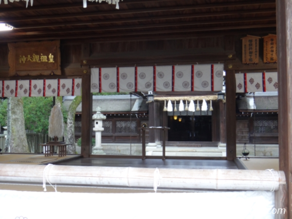 『伊弉諾神宮』本殿の中にある木画像
