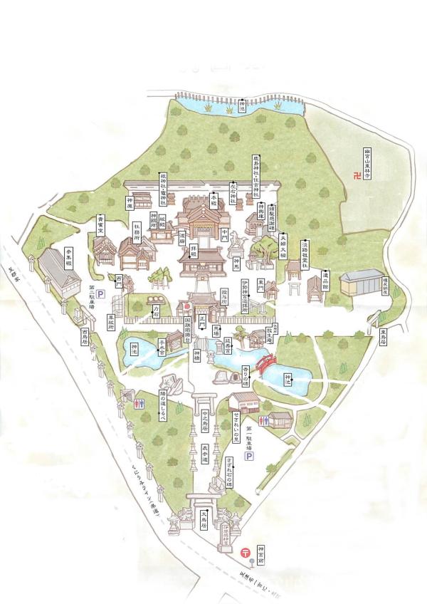 『伊弉諾神宮』境内マップ画像