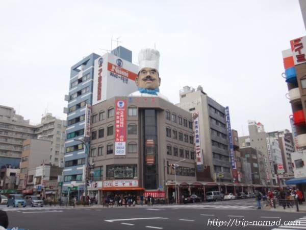 東京浅草「かっぱ橋道具街」『ニイミ洋食器店・ジャンボコック』画像