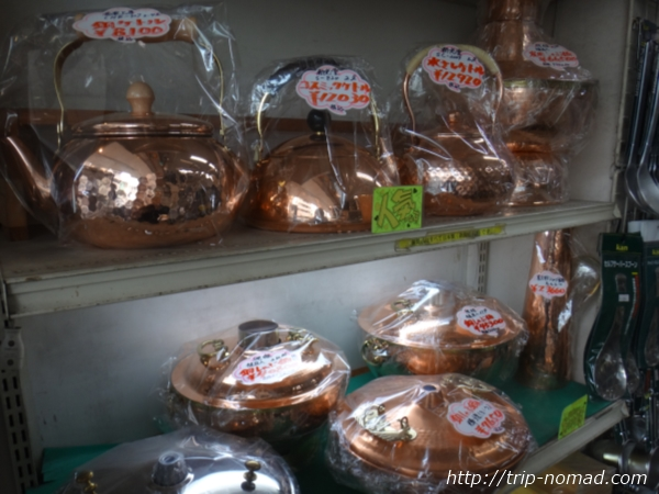 東京浅草「かっぱ橋道具街」『料理道具の銅源サイトウ』銅製ケトル画像