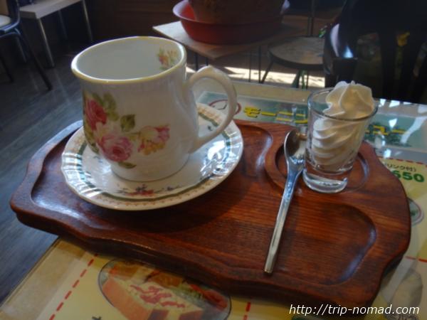 『喫茶ツヅキ』カフェオレセット画像