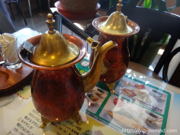 『喫茶ツヅキ』カフェオレ用銅製ポット画像