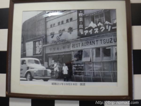 『喫茶ツヅキ』外壁にかざられていた昔の写真画像
