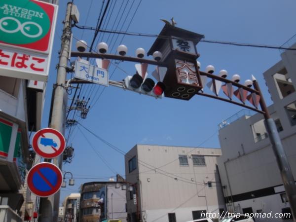 太閤通りの大門交差点画像