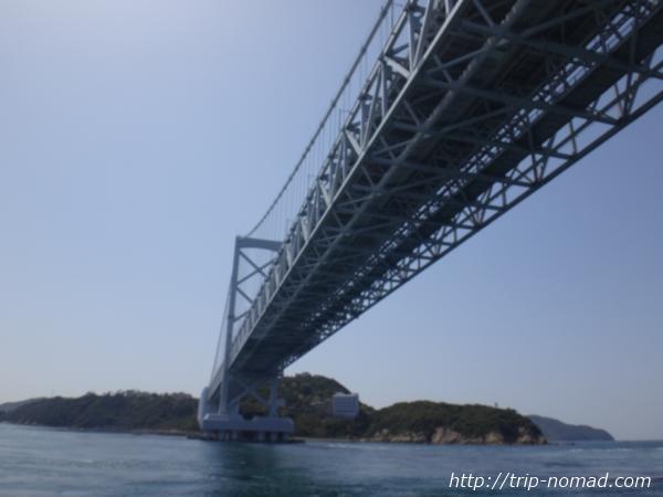 『鳴門海峡大橋の真下』画像