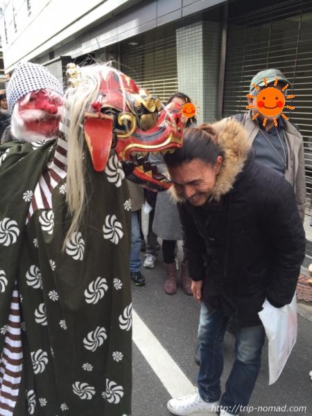 『日本橋七福神巡り』末廣神社獅子舞画像