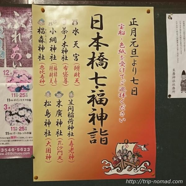 『日本橋七福神詣』ポスター画像