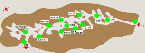 『鬼ヶ島大洞窟』内部地図画像