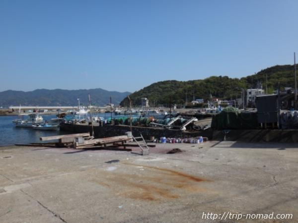 沼島海沿いの道画像