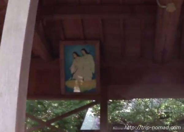 沼島『おのころ神社』社殿内の絵画像