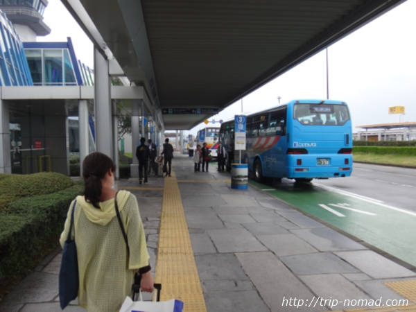高松空港から高松駅までの行き方『リムジンバス乗り場』画像