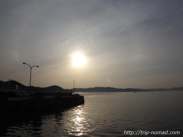 豊島の夕陽画像