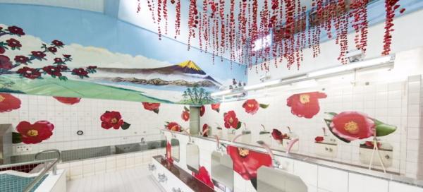 「資生堂TSUBAKI×蜷川実花」コラボイベント『TSUBAKI湯』ビフォーアフターのアフター画像