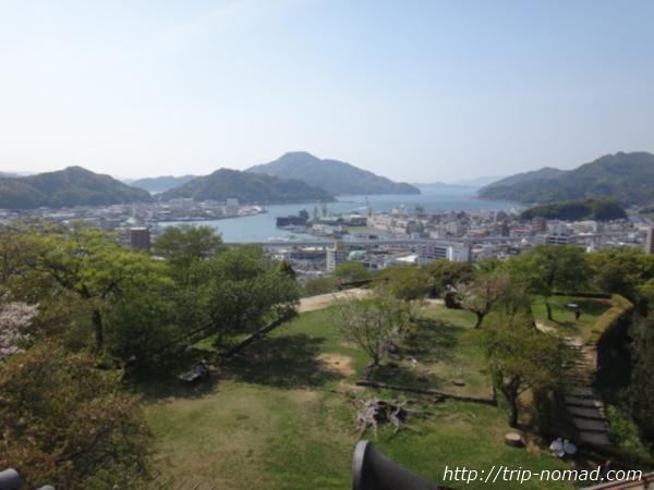 『宇和島城』天守のてっぺんからみた景色画像