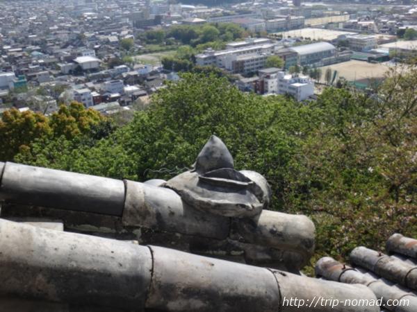 『宇和島城』桃瓦画像