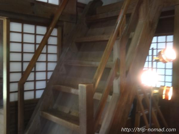 『宇和島城』急階段画像