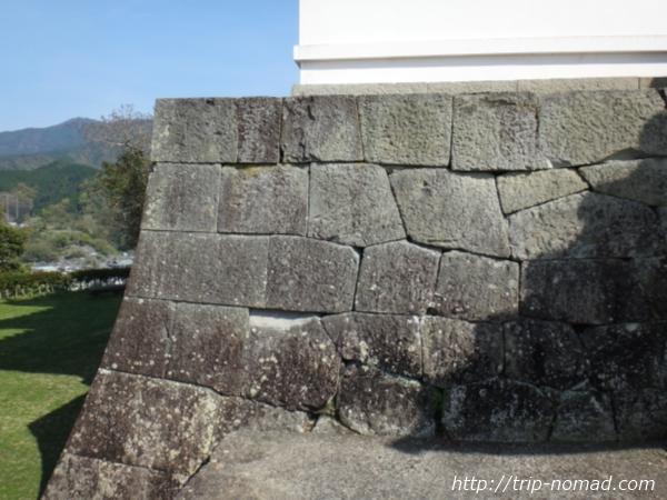 『宇和島城』唐破風鬼瓦の九曜紋画像