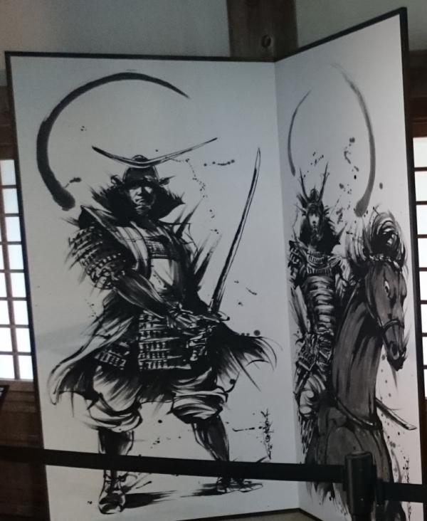『宇和島城』『茂本ヒデキチ』氏の墨絵左側画像
