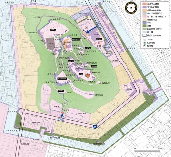 『宇和島城』城山まっぷ画像
