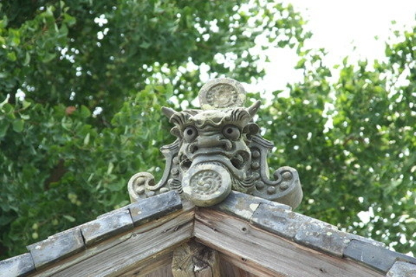 愛媛県宇和島市『古民家與那原家』装飾瓦「鬼瓦」画像