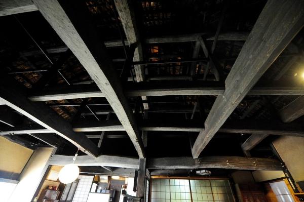 愛媛県宇和島市『古民家小屋組』画像