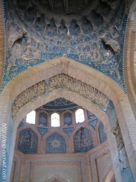 トルクメニスタン世界遺産『クフナ・ウルゲンチ』トレベクハニム廟天井モザイク画像