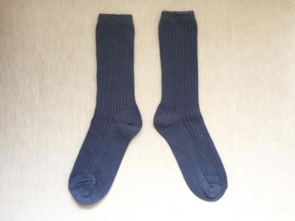 『女子旅冷え性対策』「シルクふぁみりぃ」さんの『冷えとり靴下』の「重ね履き用コットンリブ靴下」画像