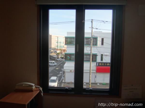 『枕崎シティホテル福住』窓からの景色