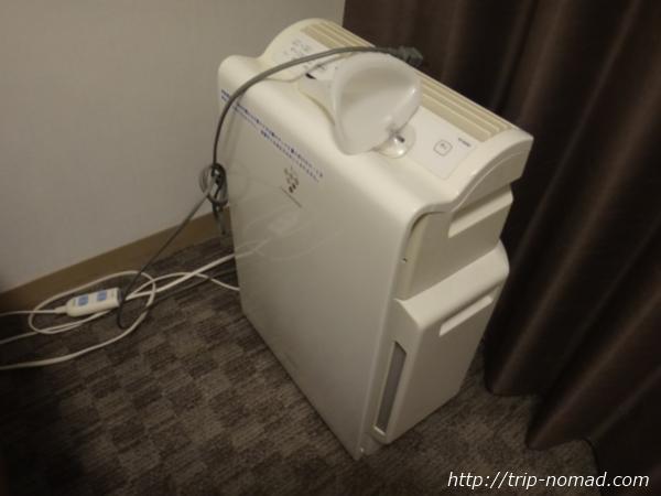 『大阪東急REIホテル』シャープ製の加湿機能付空気清浄機