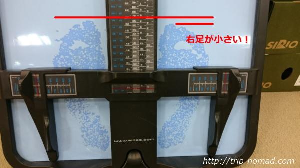 東京神田神保町『さかいやスポーツシューズ館』で計った足のサイズ