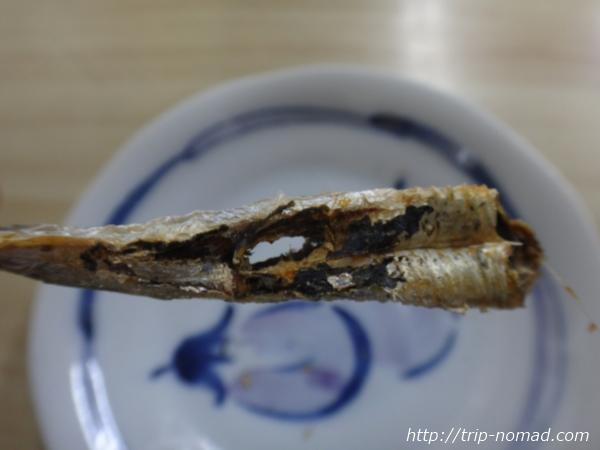 青森県弘前市『三忠食堂』の「焼き干し」アップ