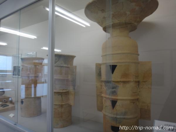 神戸『五色塚古墳』管理事務所で見学できる出土、復元された埴輪