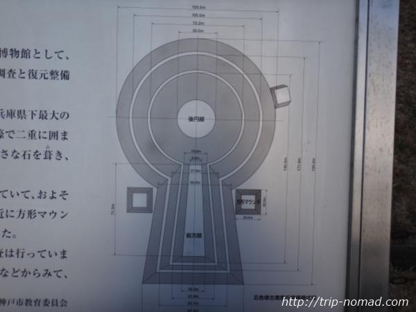 神戸『五色塚古墳』説明文古墳サイズ詳細