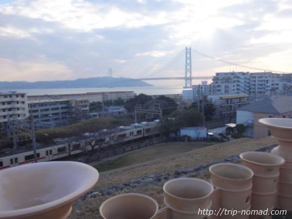 神戸『五色塚古墳』前方部海側